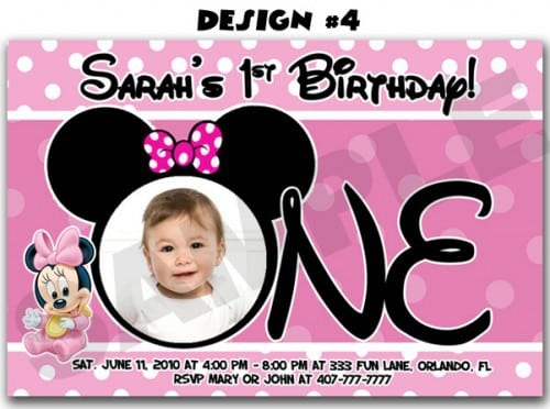 Free Minnie Mouse Invite Template 4