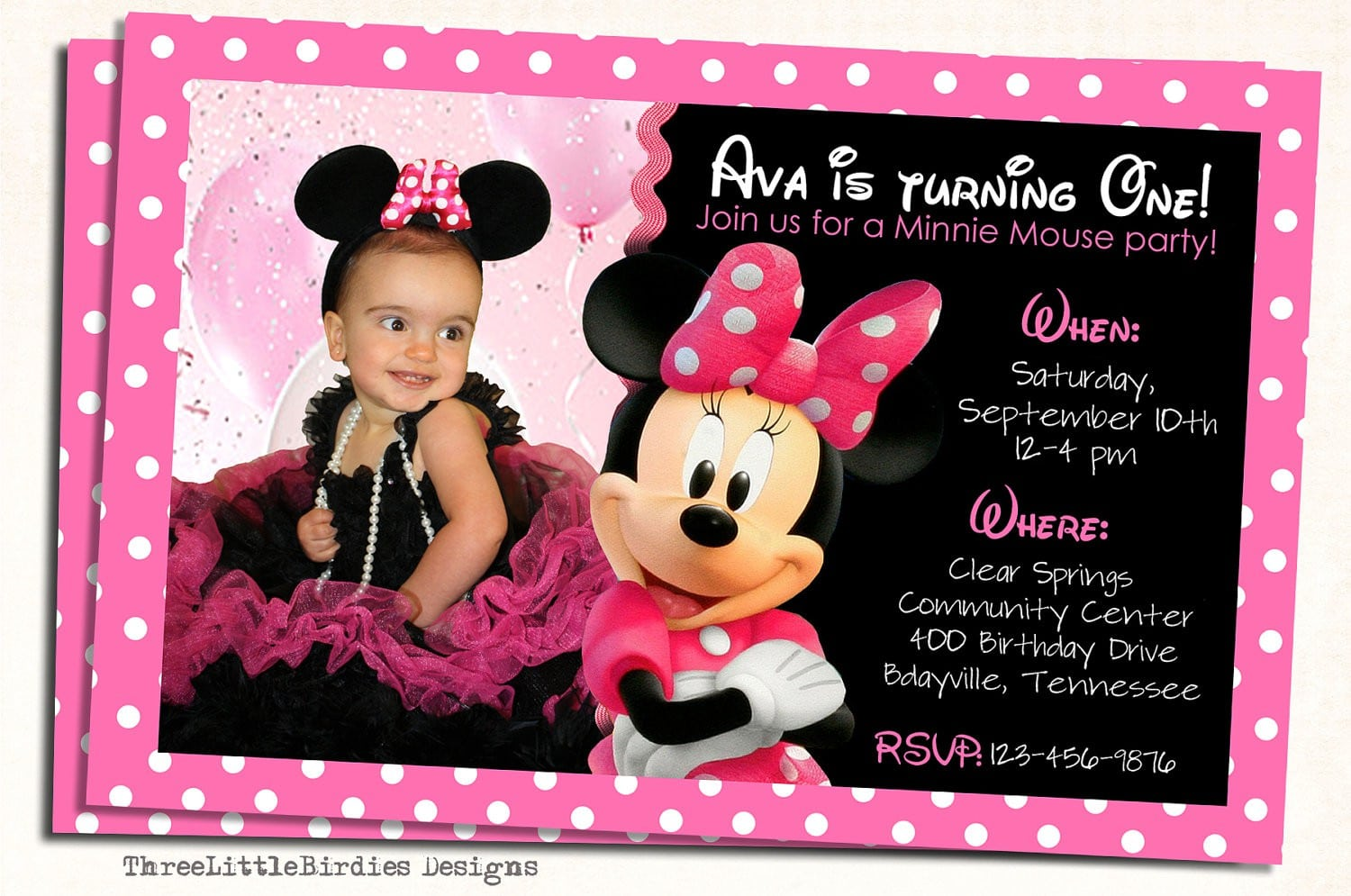 Free Minnie Mouse Invite Template 5