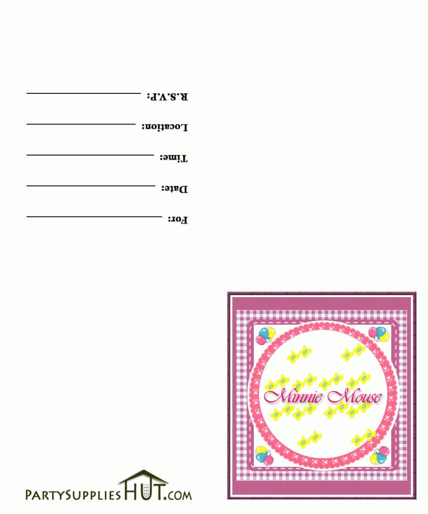 Free Minnie Mouse Party Invitation Templates