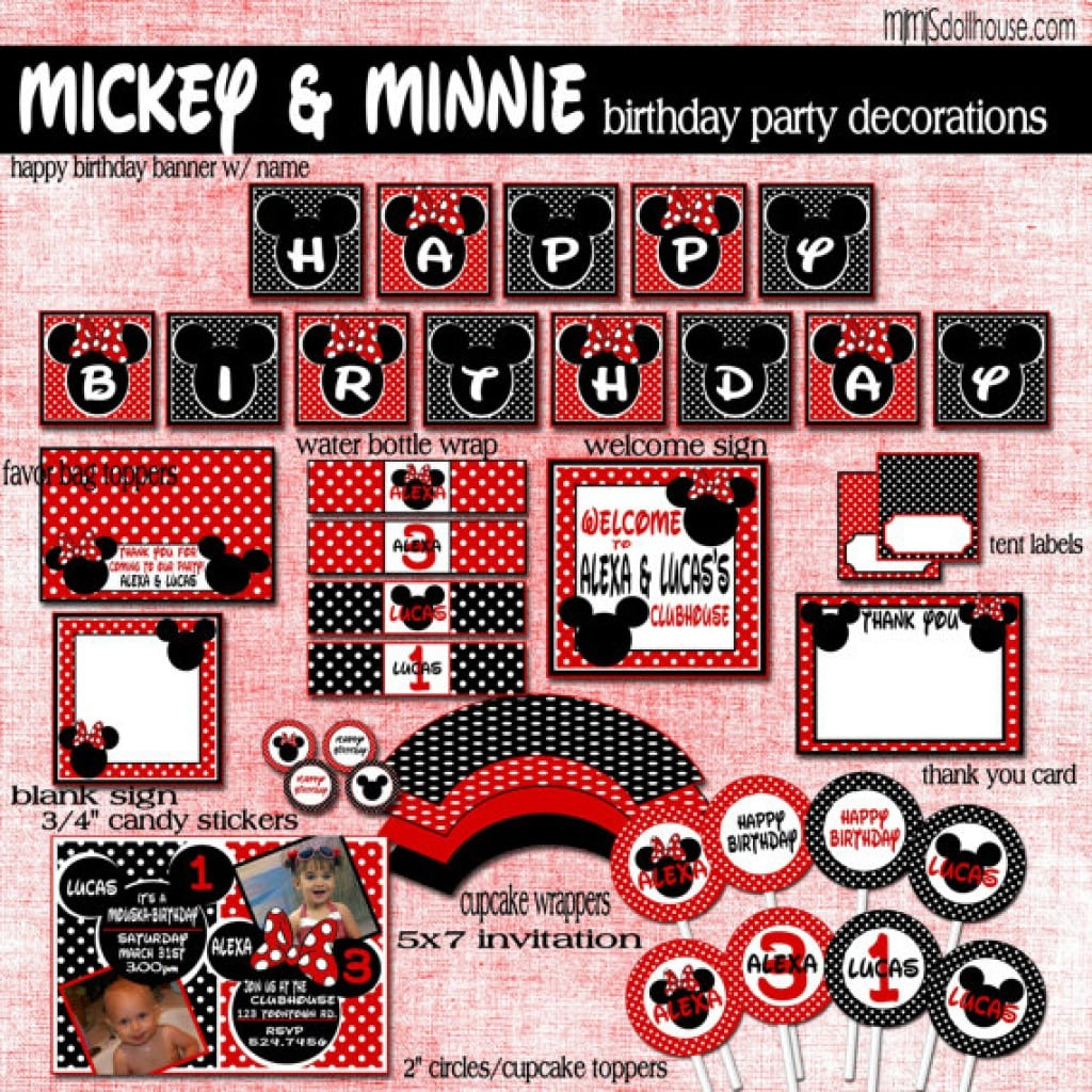 Free Minnie Mouse Party Invitation Templates 5