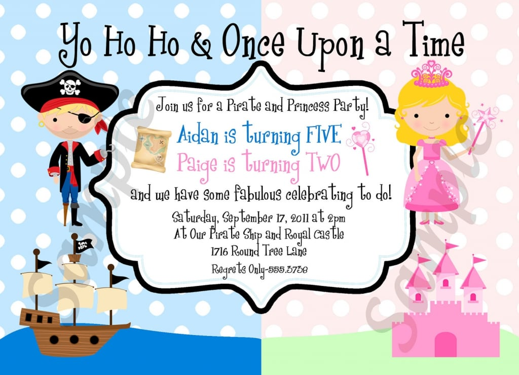 Free Pirate And Princess Invitations