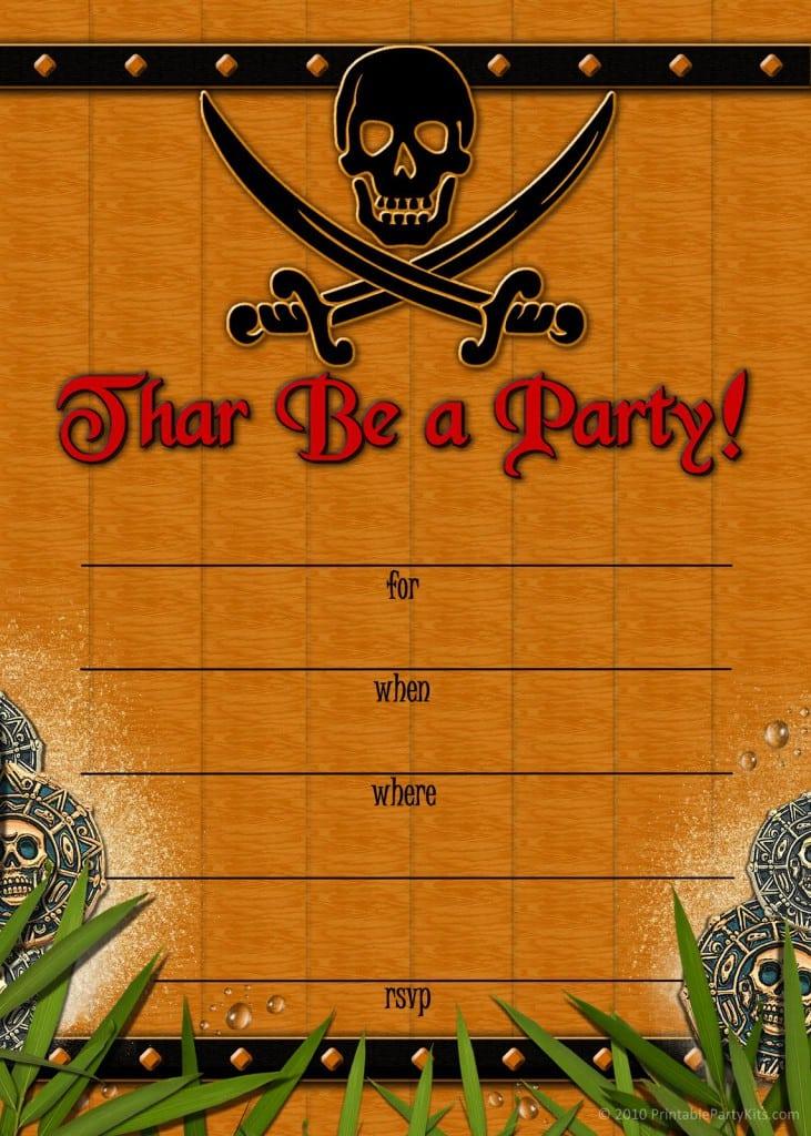 Free Pirate Invitation Template 3