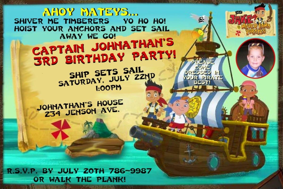 Free Pirate Invitation Template 4