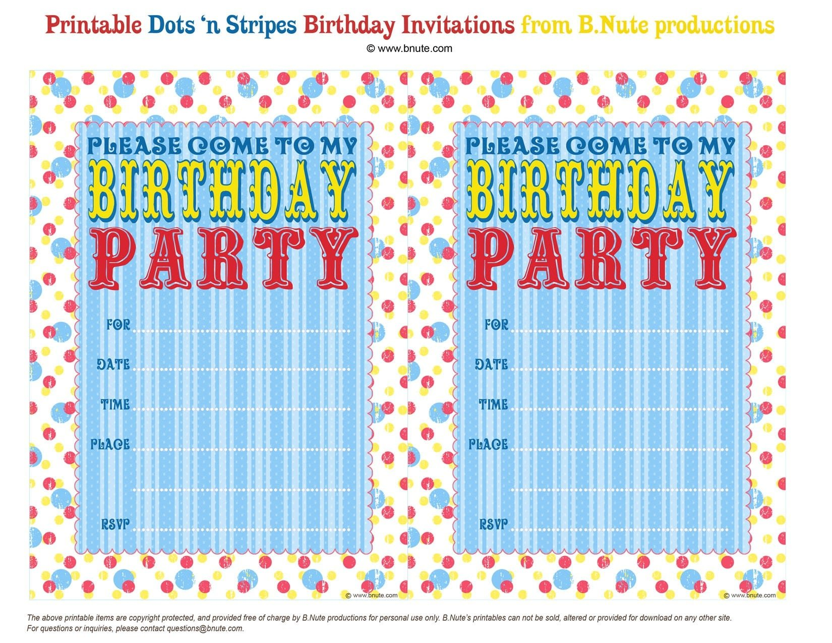 Free Pool Party Invitations 5