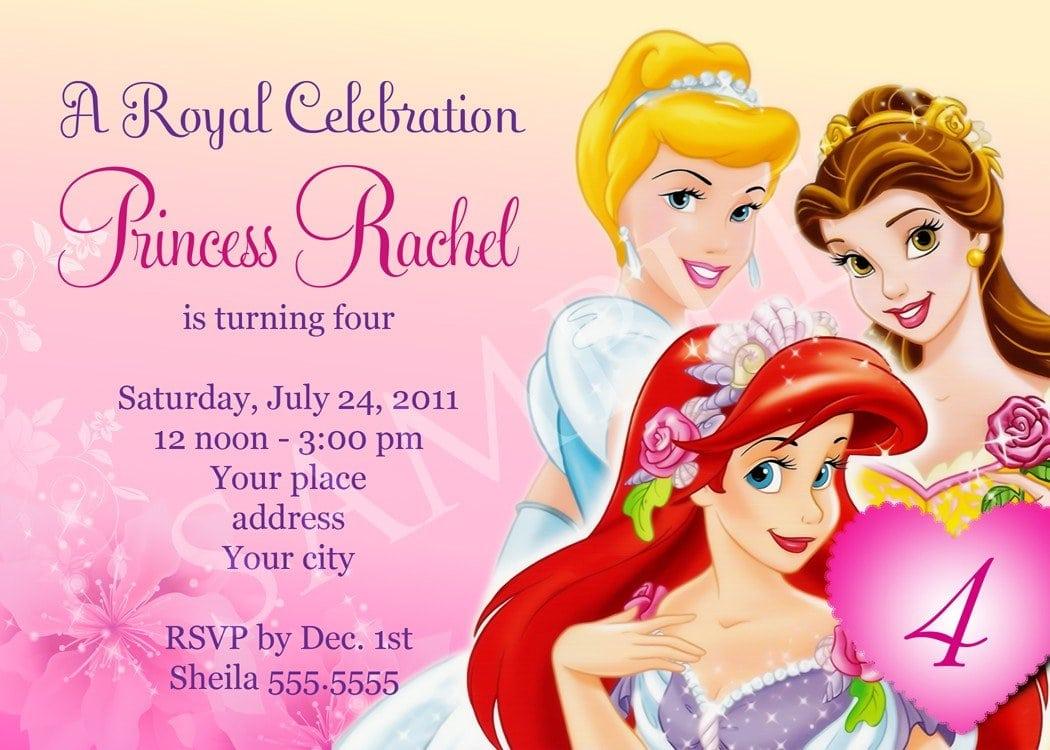 free princess invitation