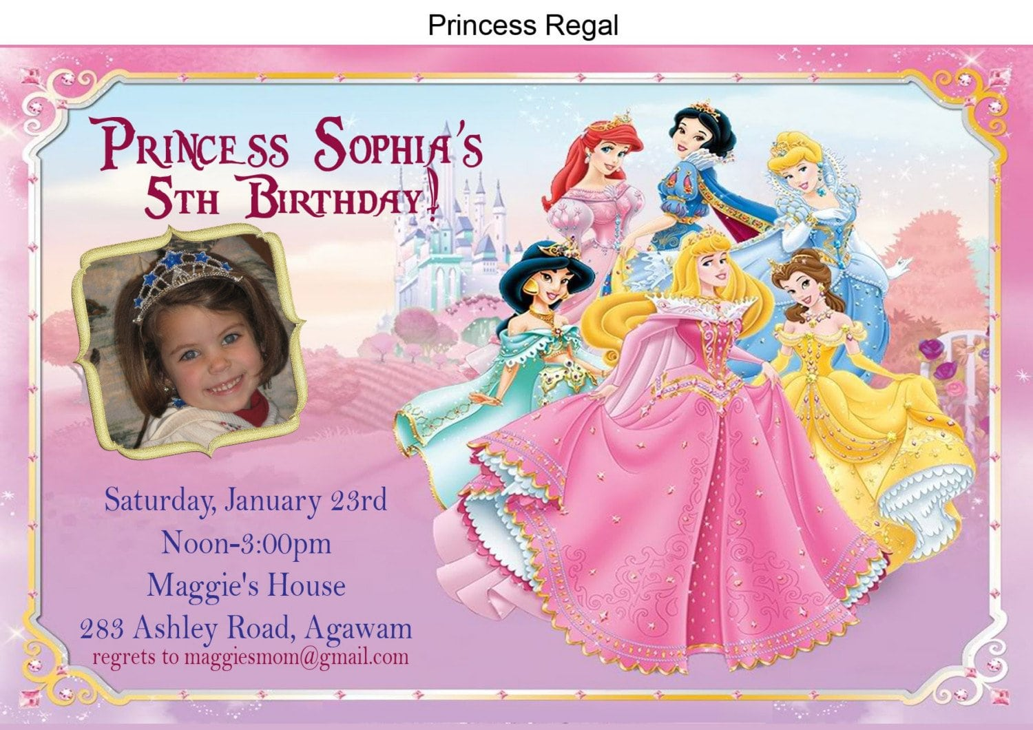 Free princess birthday invitations filmwisefo Gallery