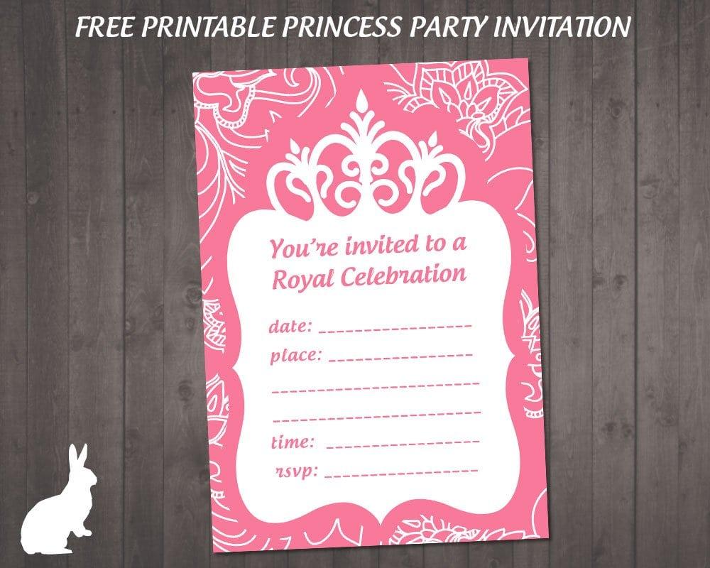 Free Princess Party Invitation Printable