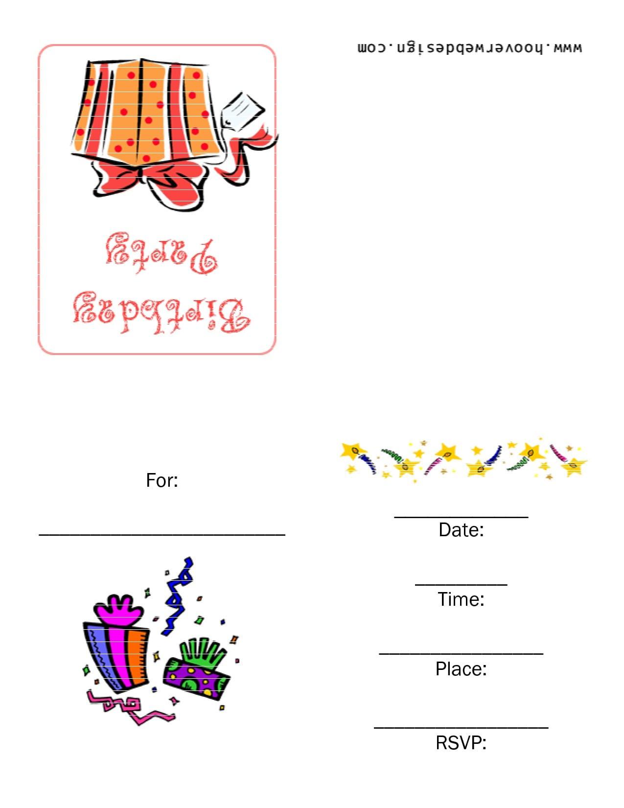 Free Printable 1st Birthday Invitation Templates 4