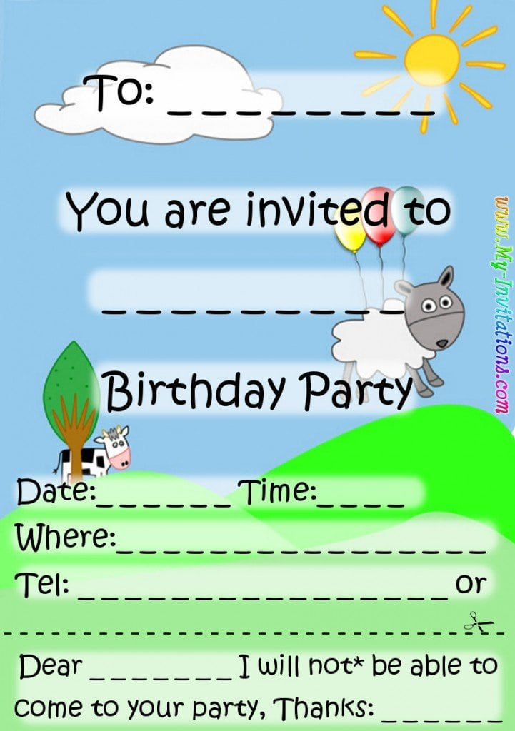 Free Printable St Birthday Invitation Templates - Free 1st birthday invitation templates printable