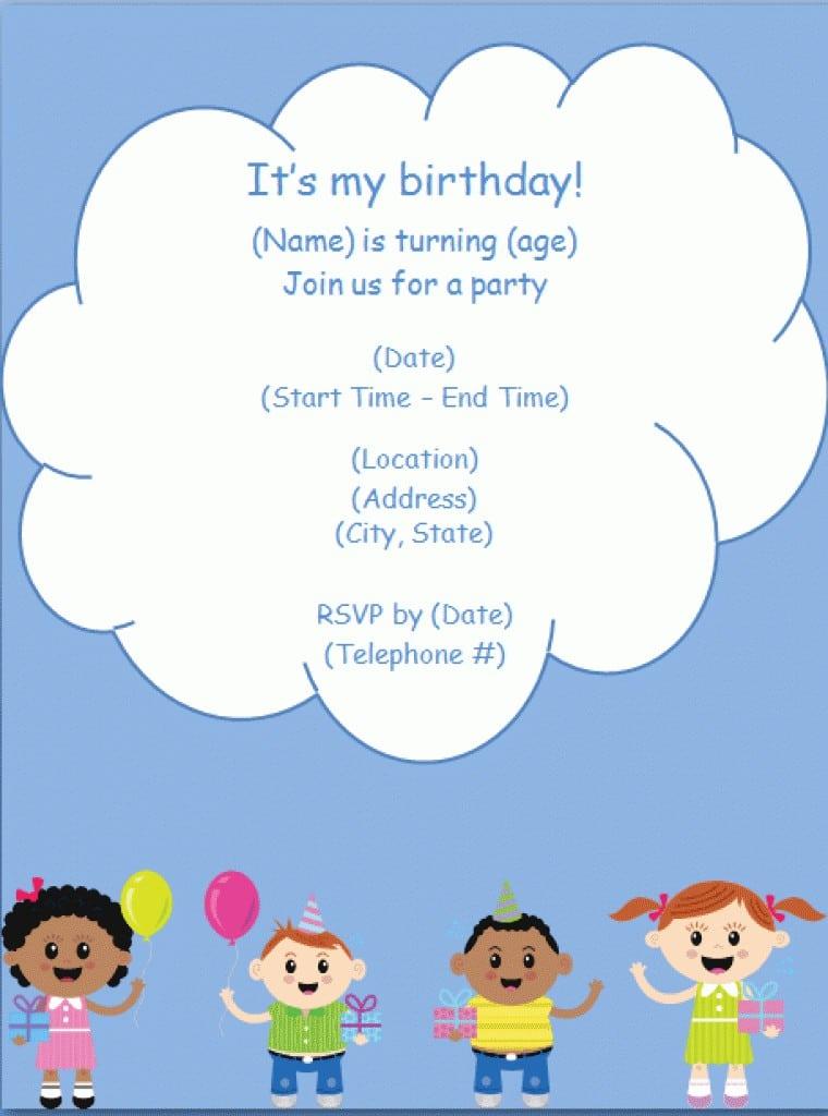 Free Printable 1st Birthday Invitation Templates