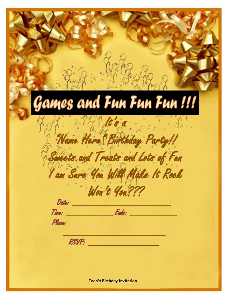 Free Printable 30th Birthday Invitation Templates 3