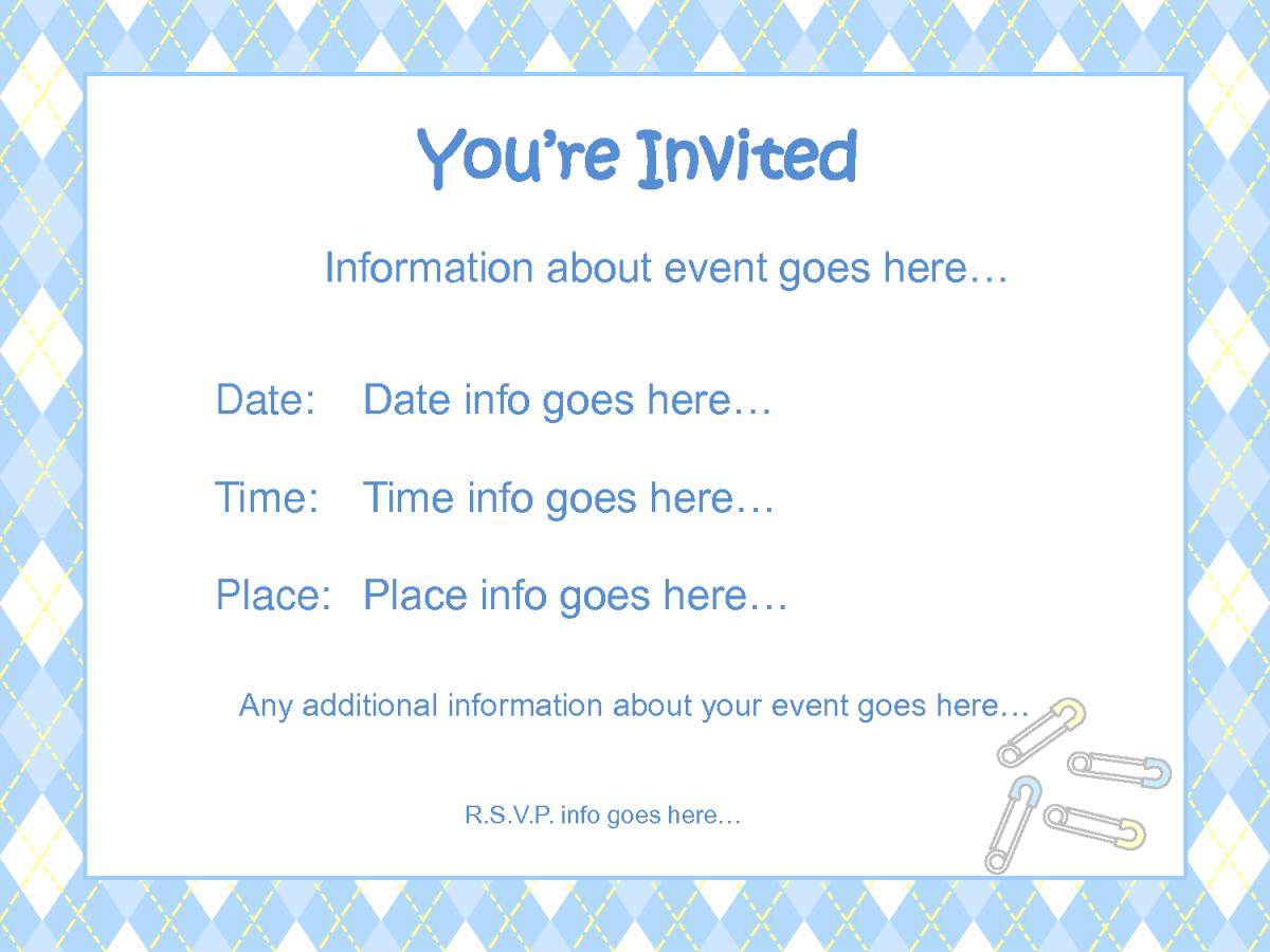 Free Printable Baby Boy Shower Invitations