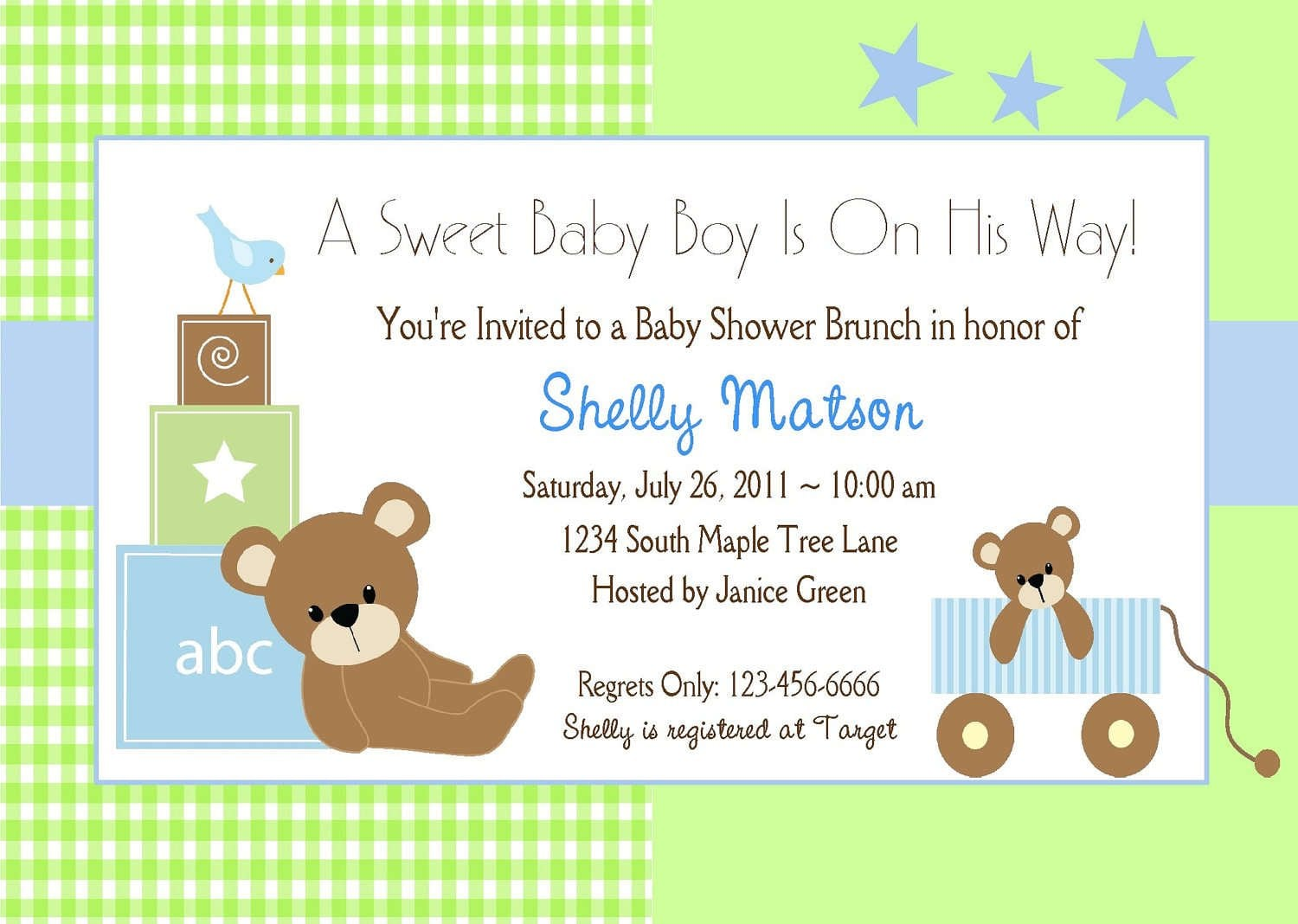 Free Printable Baby Invitations For Boy