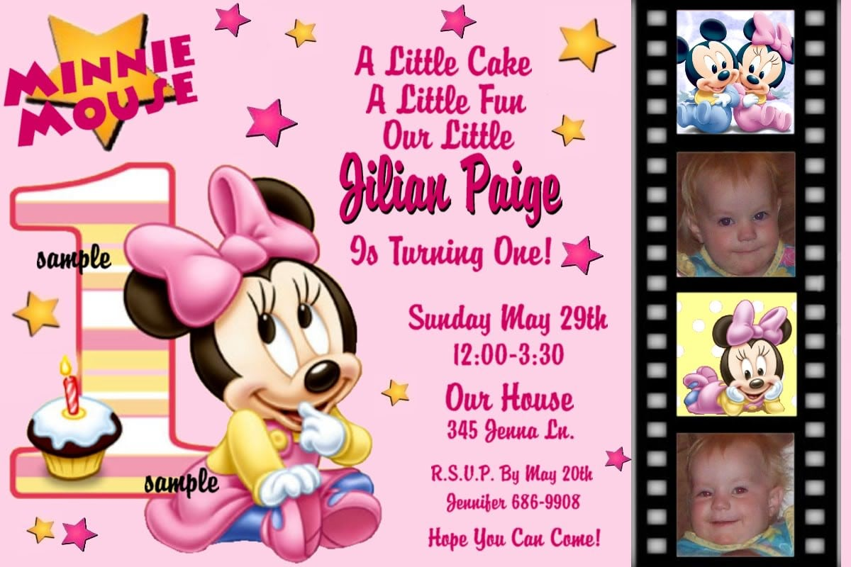 Free Printable Baby Minnie Mouse Invitations