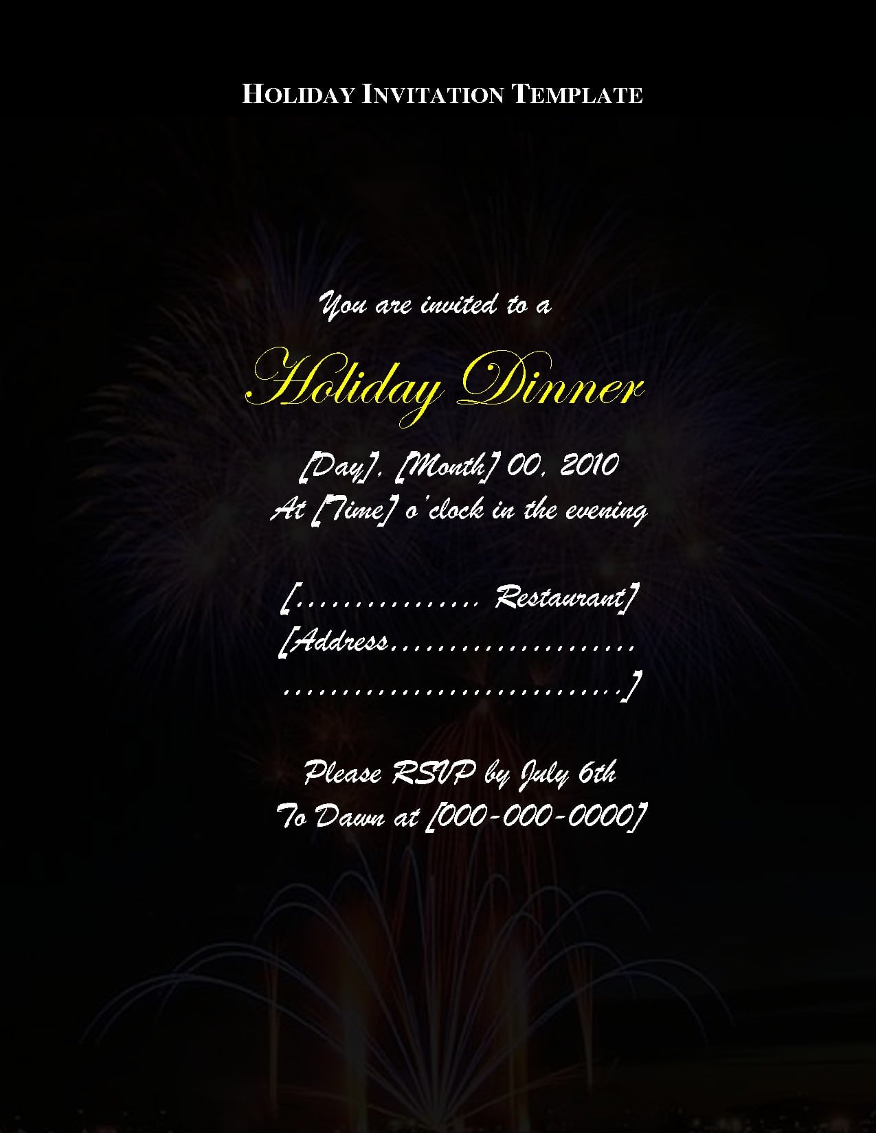 banquet invitation templates free