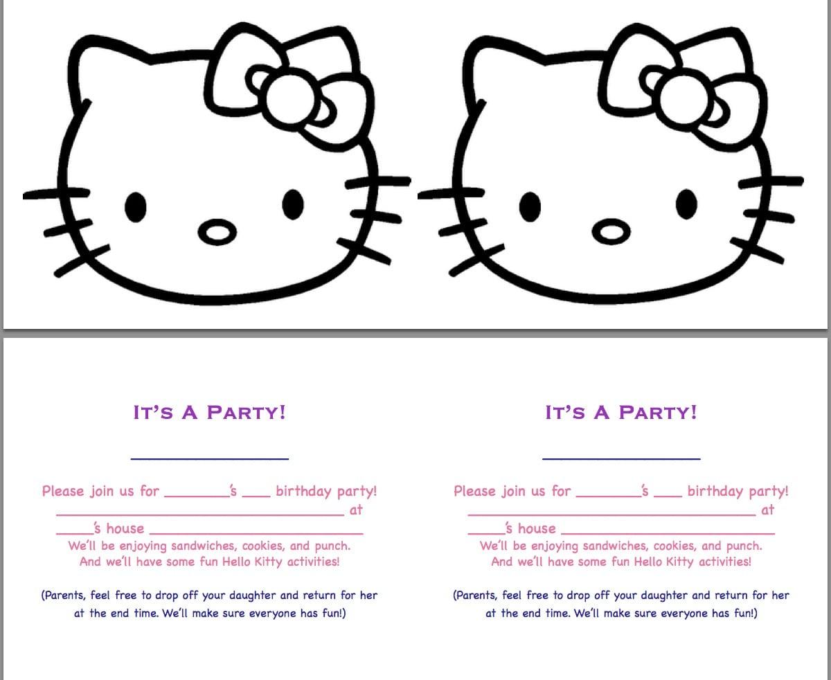 free invitation templates birthday