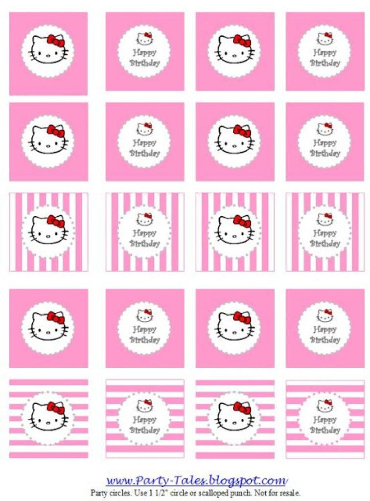 Free Printable Birthday Party Invitations Hello Kitty 5