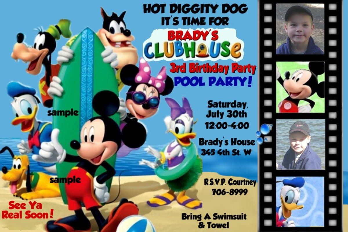 Free Printable Birthday Pool Party Invitations 2