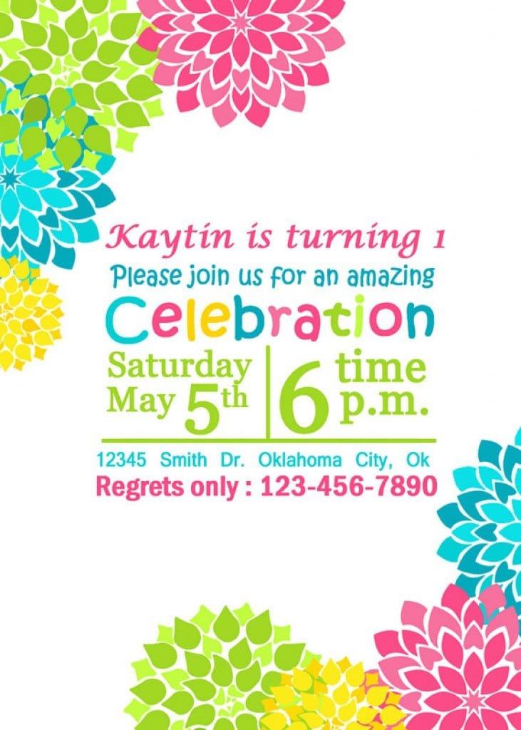 Free Printable Birthday Pool Party Invitations 3
