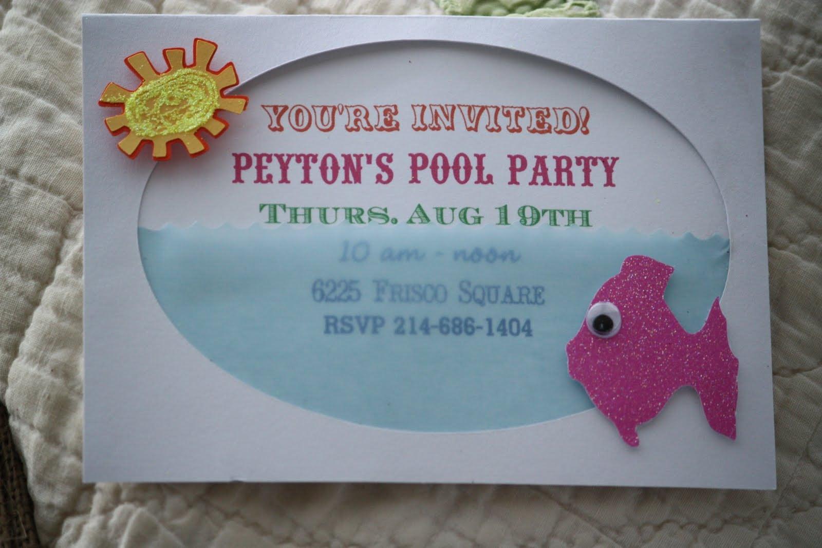 Free Printable Birthday Pool Party Invitations 5