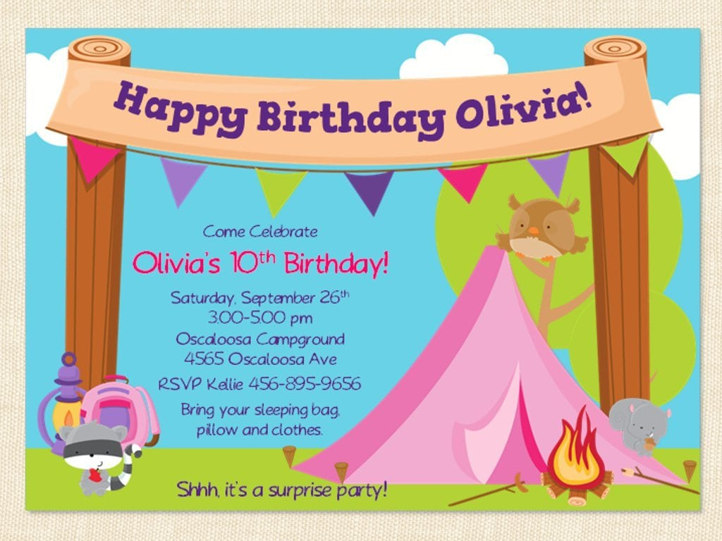 Posts related to Free Printable Camping Birthday Invitation Template