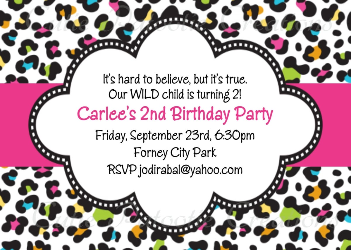 Free Printable Cheetah Or Leopard Invitations