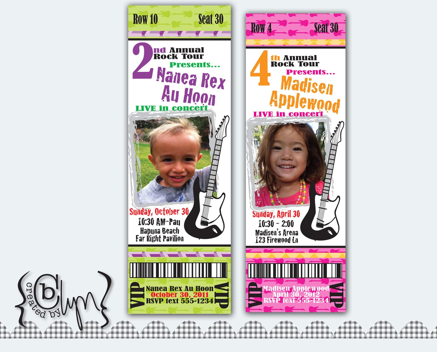 Free Printable Concert Ticket Birthday Invitations