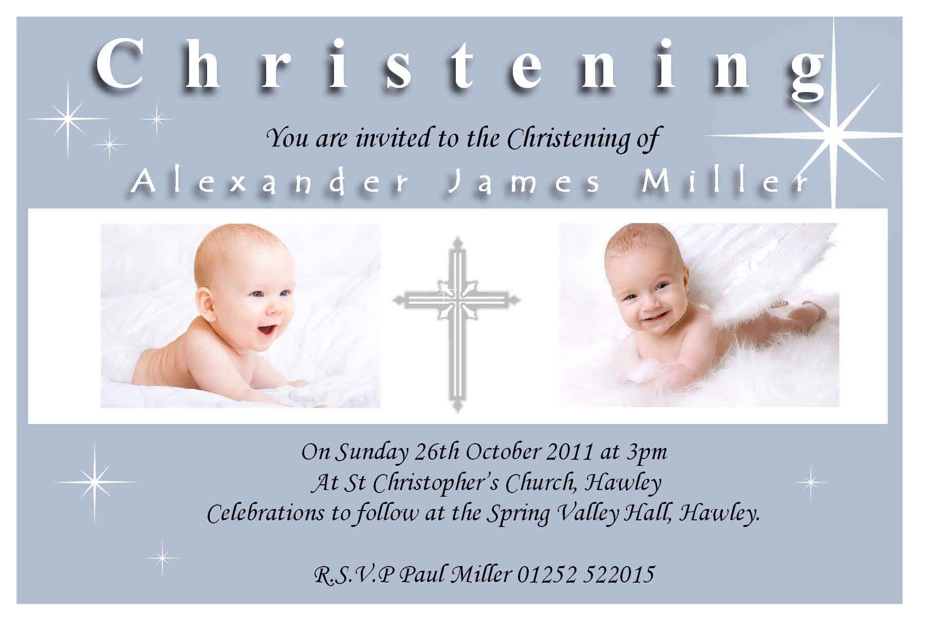 Free Printable Customized Baptism Invitation 2