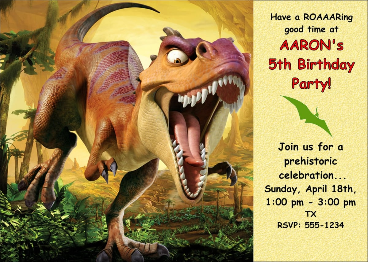 It's just a graphic of Dinosaur Party Invitations Free Printable in digital