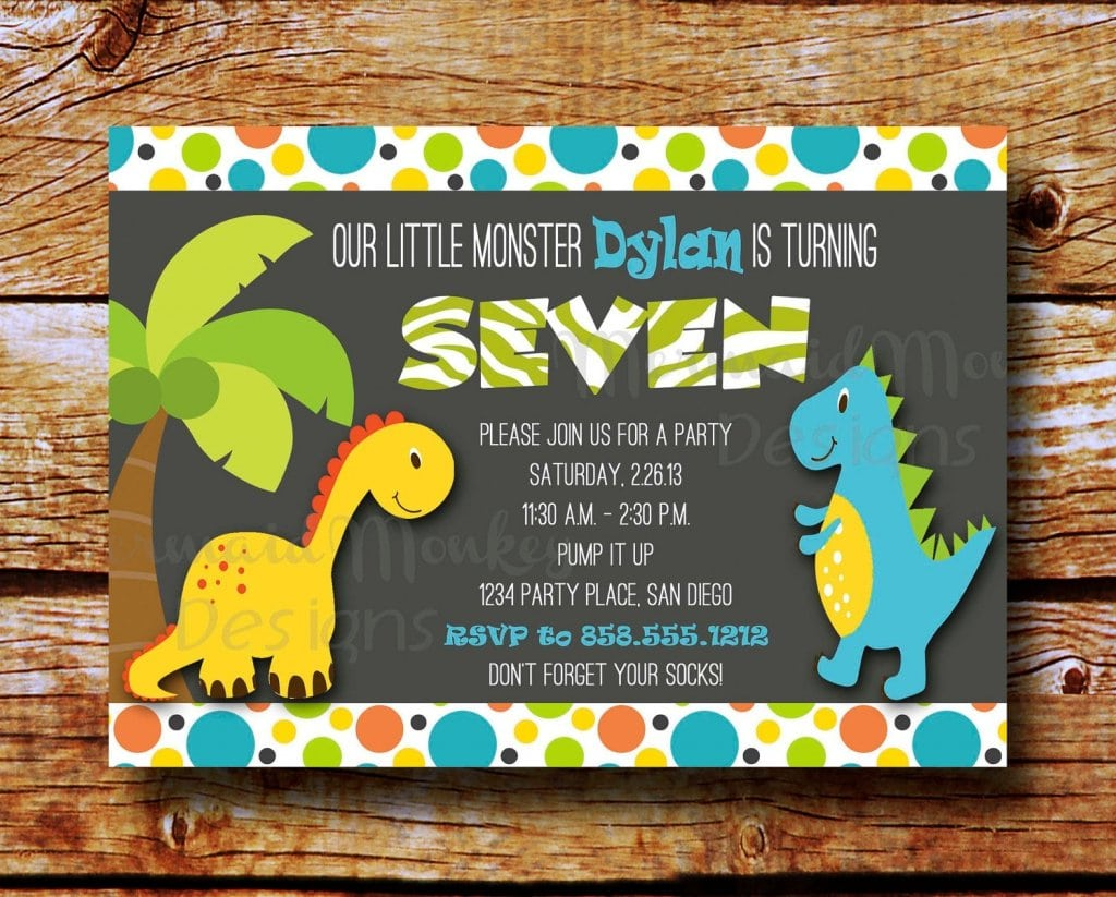 Free Printable Dinosaur Party Decorations And Invitations