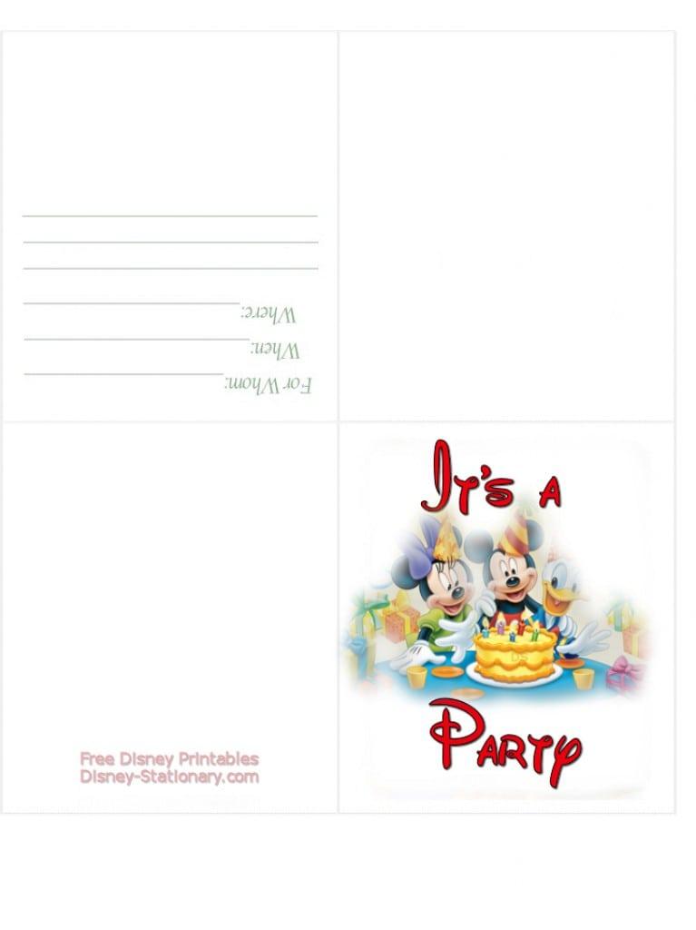 Free Printable Disney Cars Birthday Party Invitations 3
