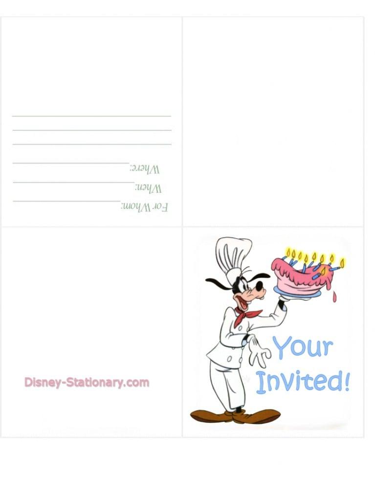 Free Printable Disney Cars Birthday Party Invitations 4
