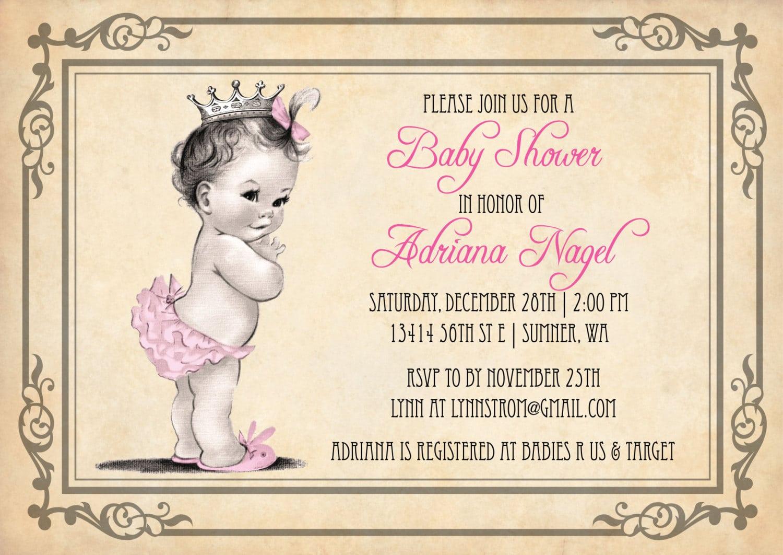 Free Printable Disney Princess Baby Shower Invitations