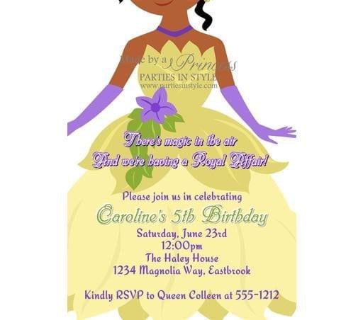 Free Printable Fairy Princess Invitations 5