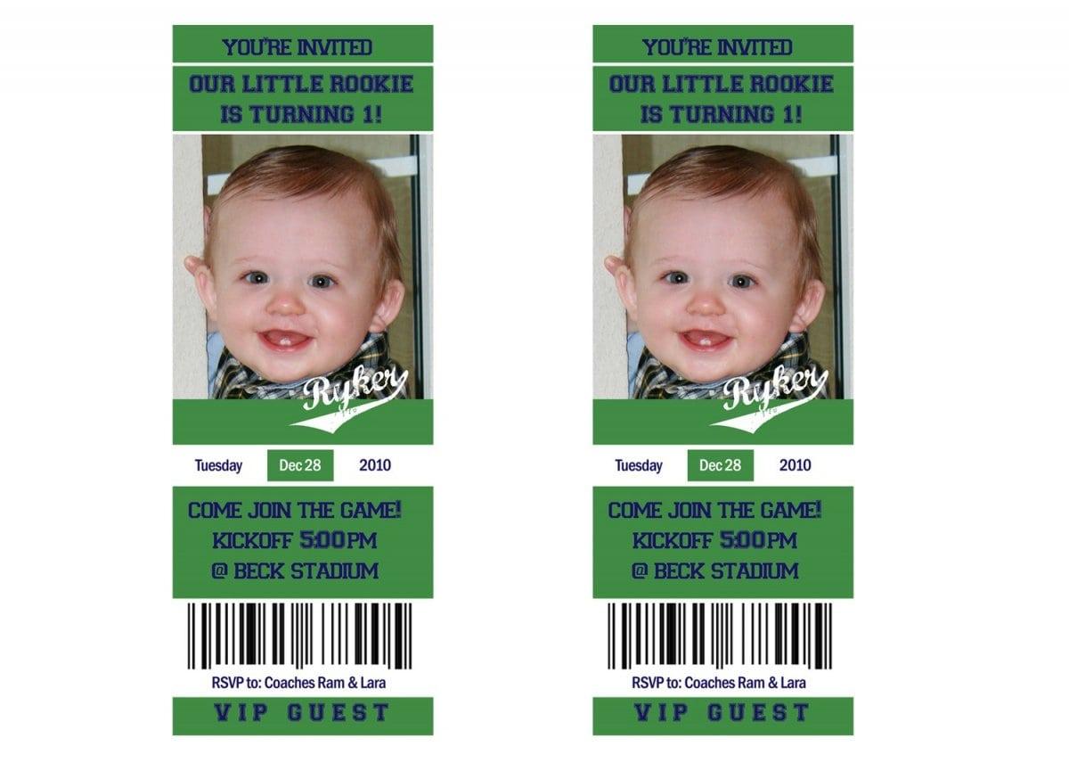 Free Printable Football Ticket Invitation Template