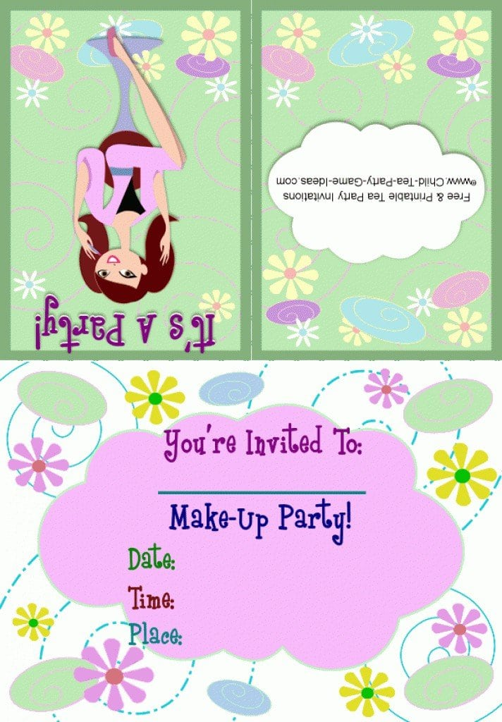 Free Printable For 40 Th Birthday Invitation Templates