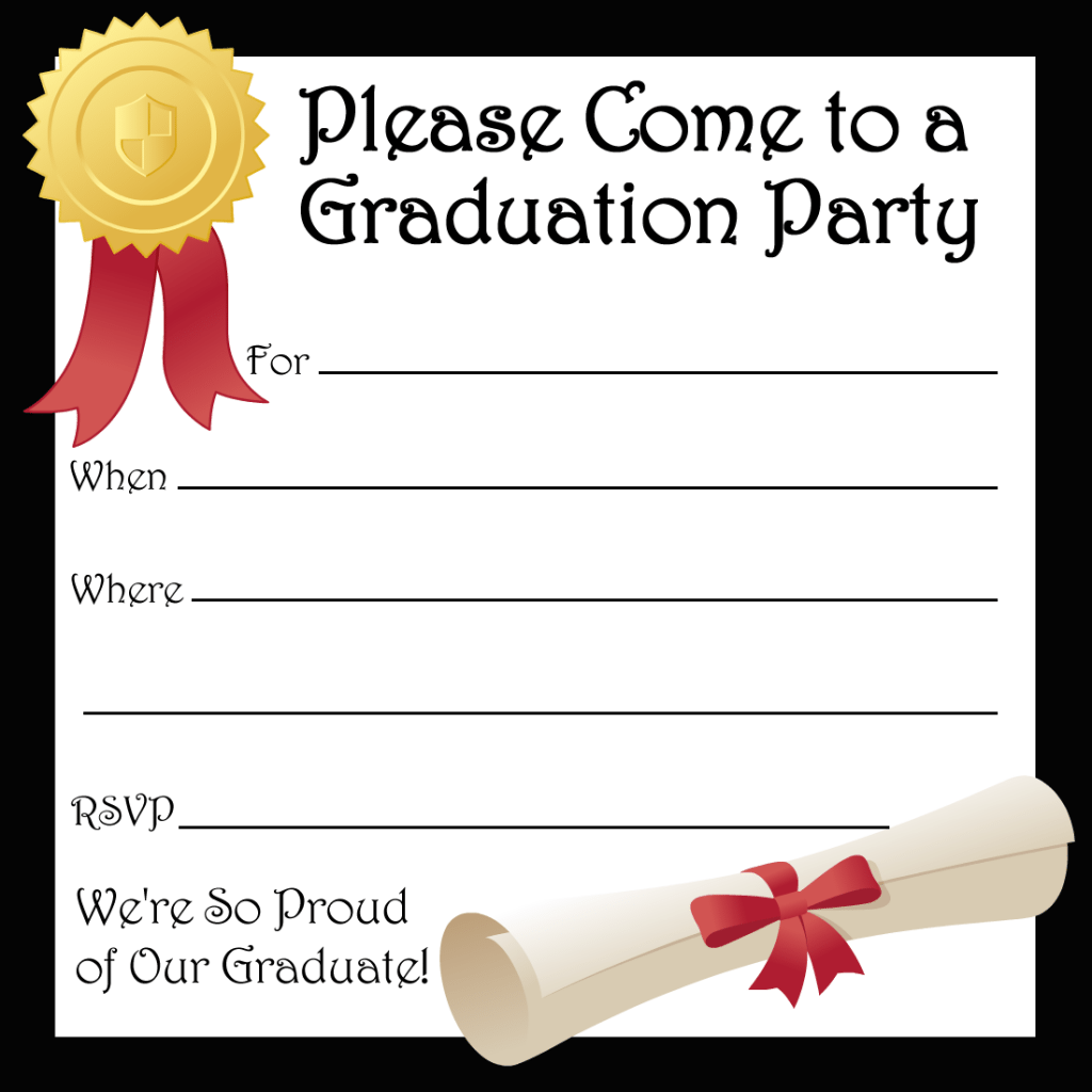 Free Printable Graduation Invitation Template 2014