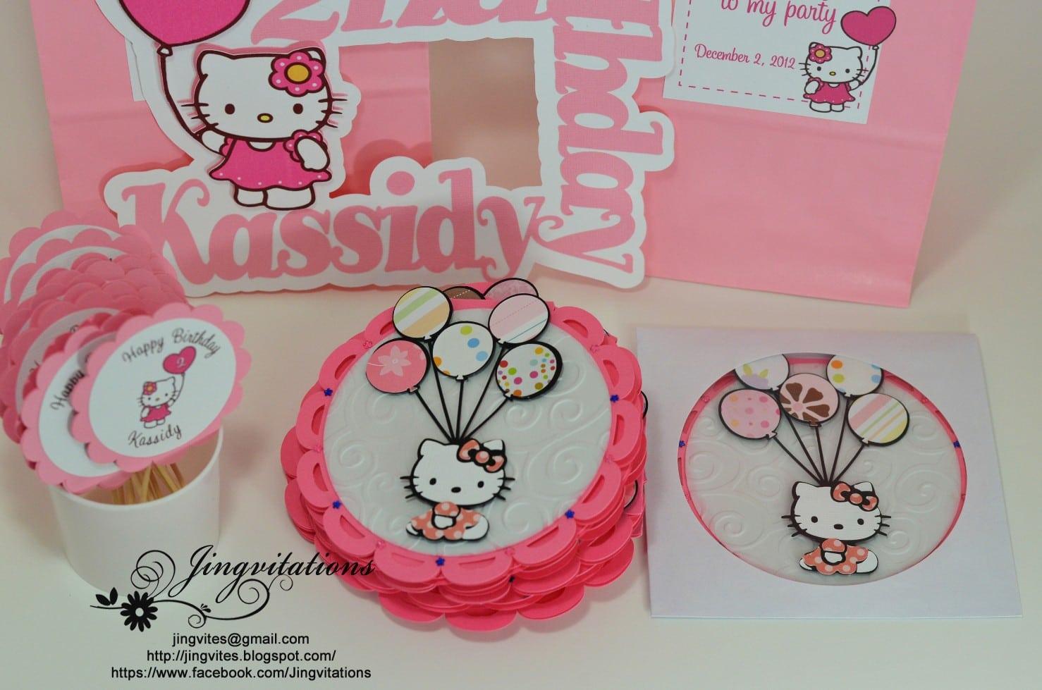 Free Printable Hello Kitty Birthday Party Invitations 2