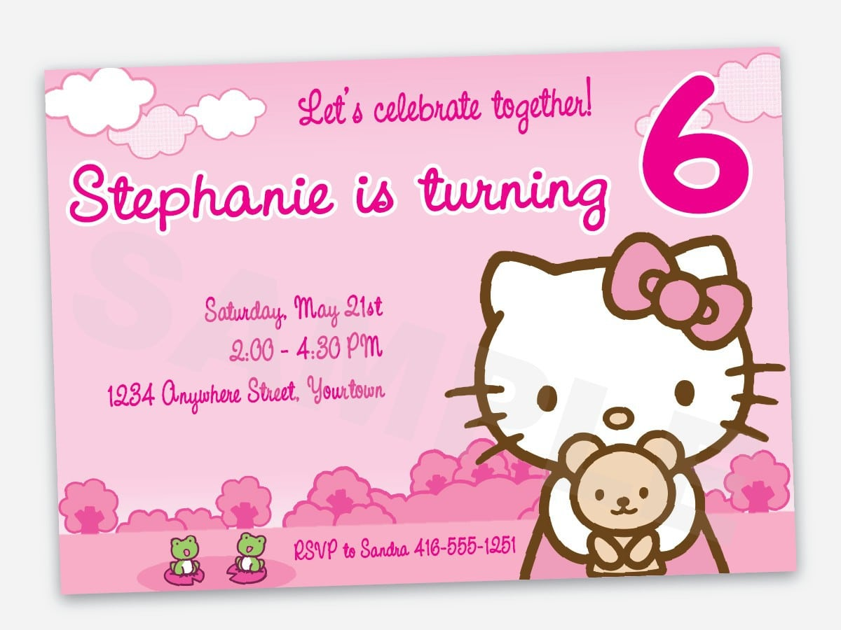 Free Printable Hello Kitty Birthday Party Invitations 5