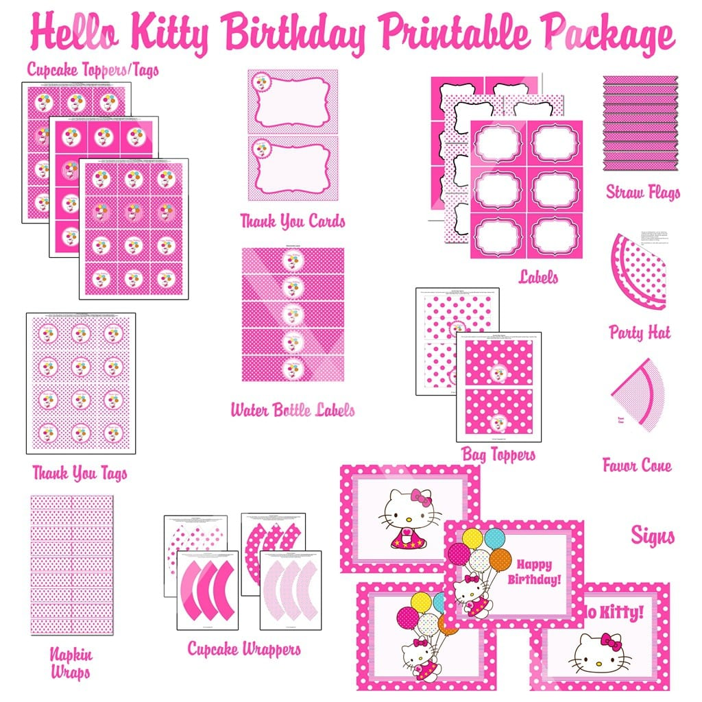 Free Printable Hello Kitty Invitation Templates 3