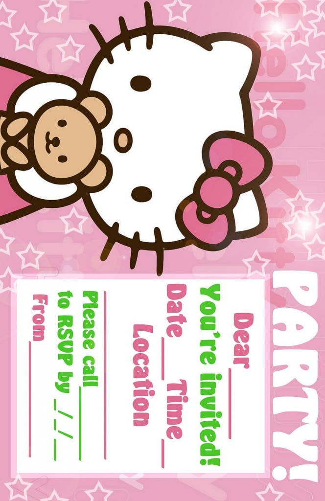 free printable hello kitty invitation templates 5