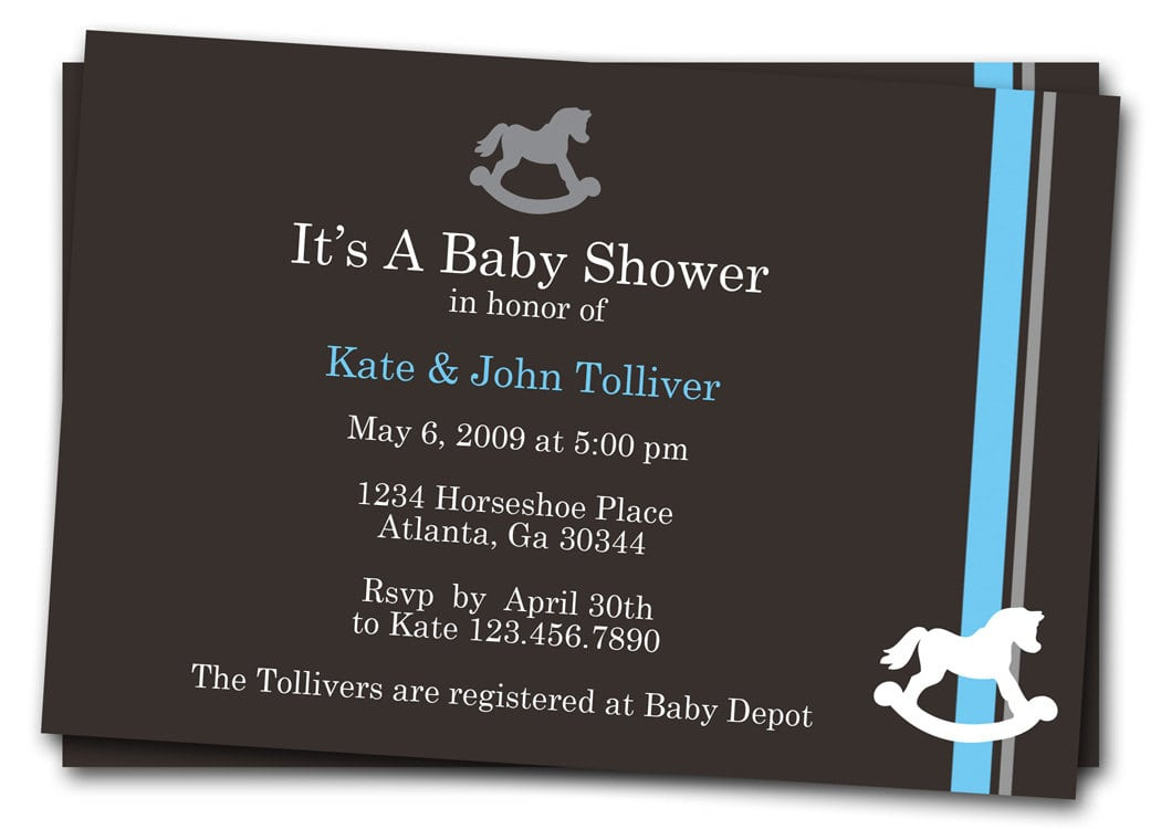 Free Printable Horse Baby Shower Invitations