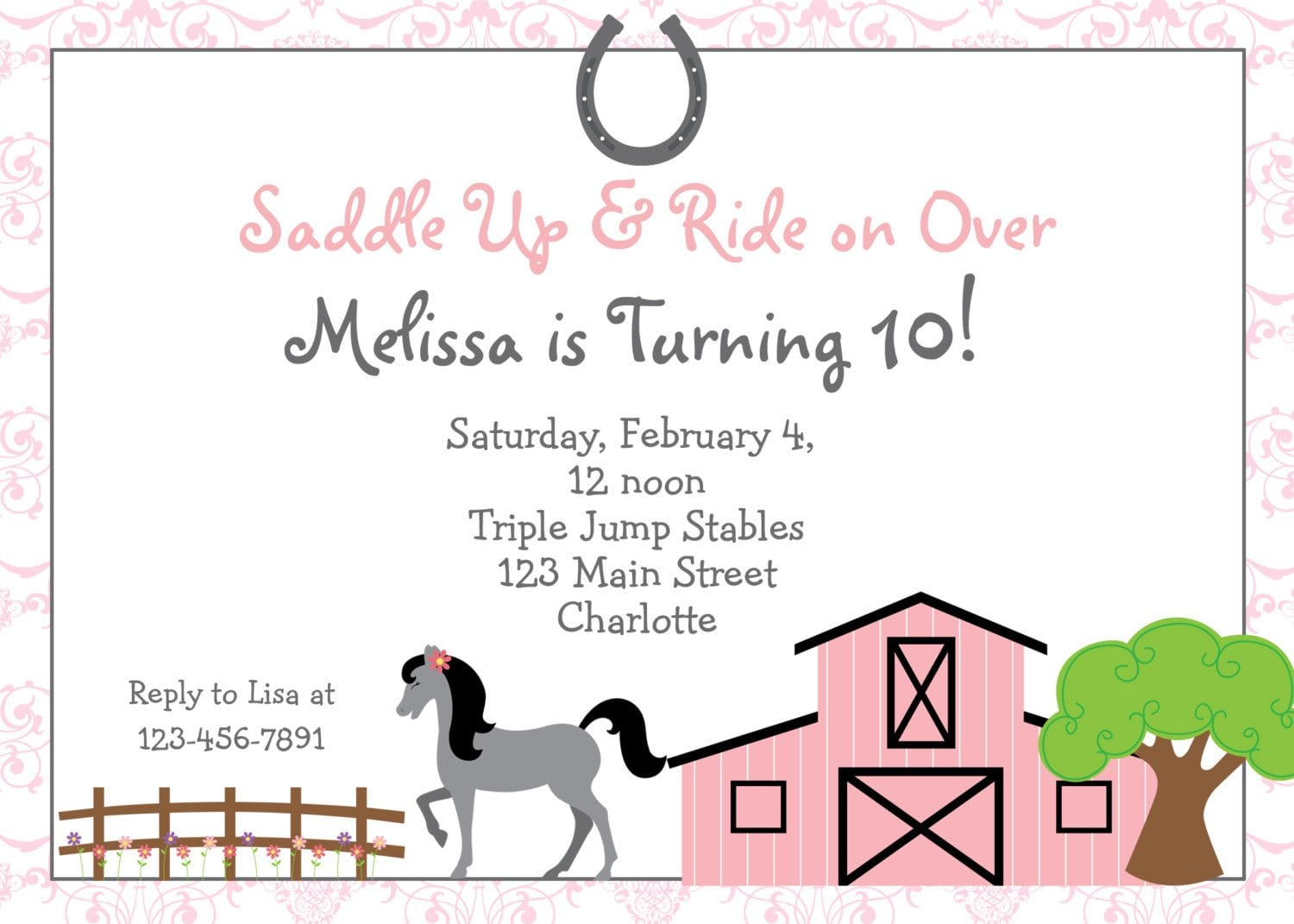 Horse Party Invitations could be nice ideas for your invitation template