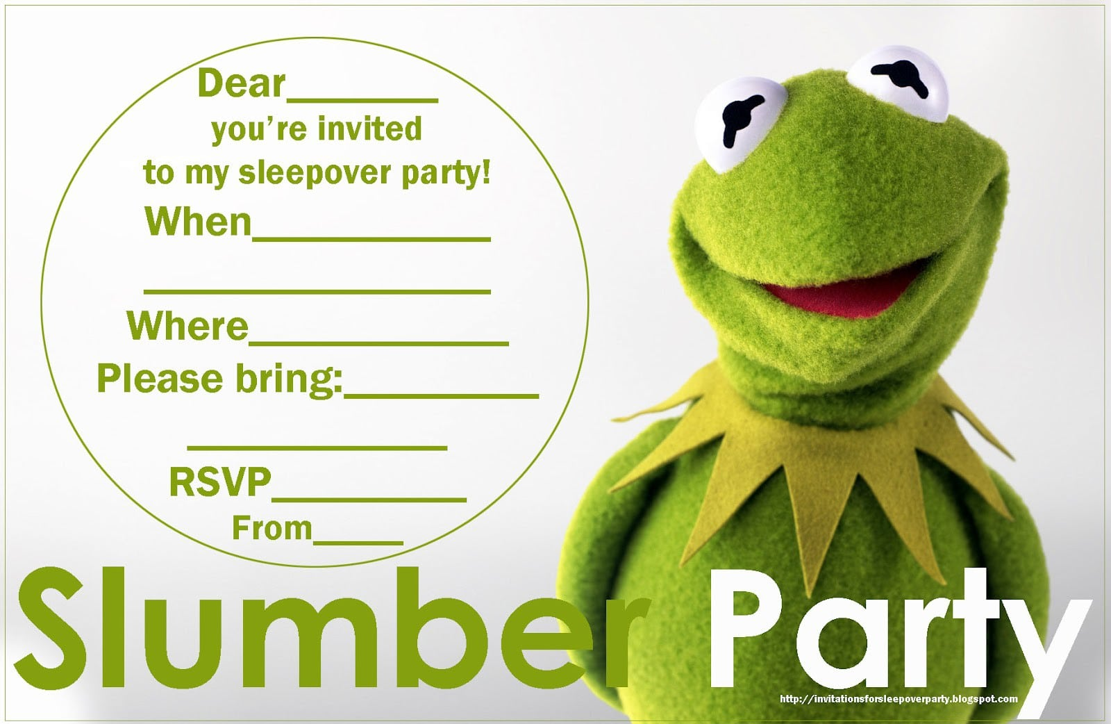 Free Printable Invitations For Girls Slumber Party 2