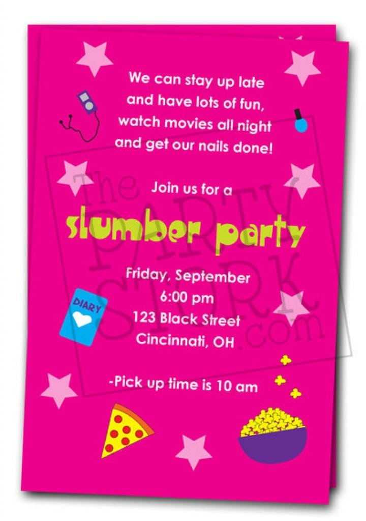 Free Printable Invitations For Girls Slumber Party 4