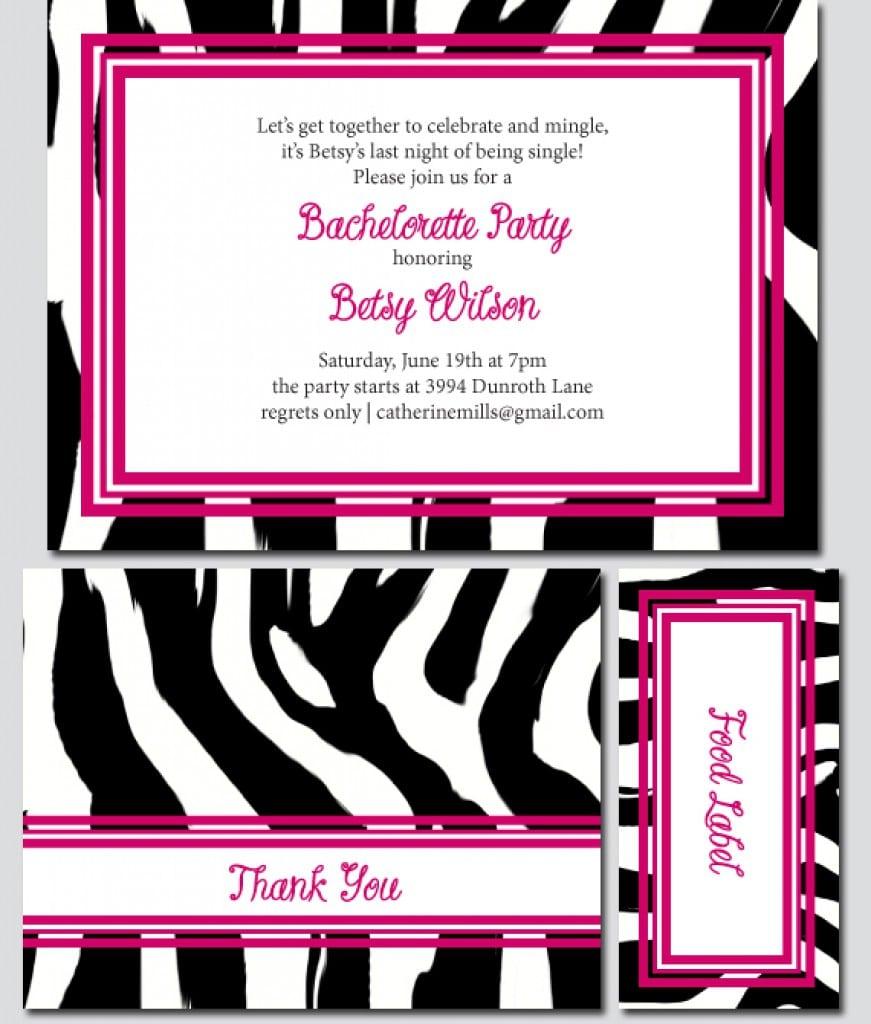 Free Printable Invitations Hello Kitty Zebra 2