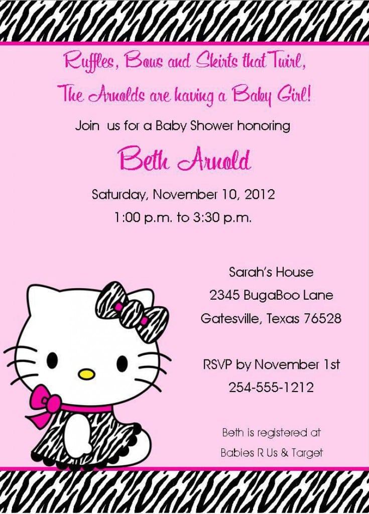 Free Printable Invitations Hello Kitty Zebra 3