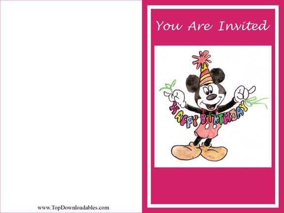 Free Printable Kids Pool Party Invitations Templates 2