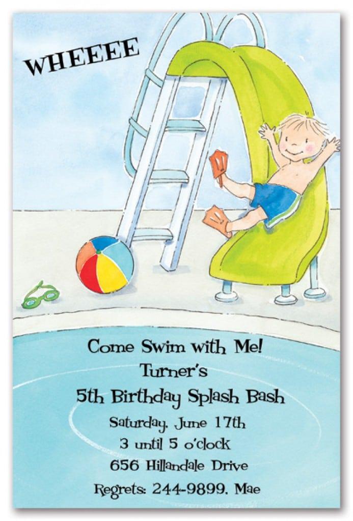 Free Printable Kids Pool Party Invitations Templates