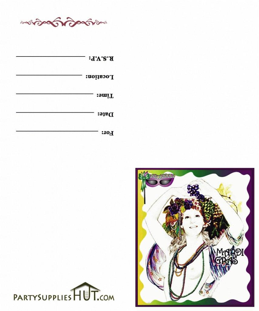 Free Printable Mardi Gras Birthday Invitations 3